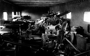 Intérieur train blindé russe 1918